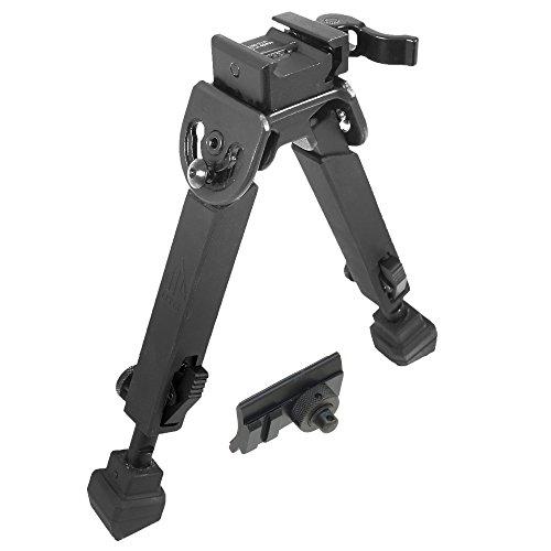 "UTG Rubber Armored Full Metal QD Bipod, Height 6.0""- 8.5"""