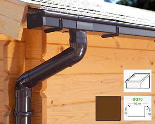 Dachrinnen/Regenrinnen Set | Pultdach (1 Dachseite) | Kastenrinnen | Kastendachrinnen | BG70 | in...