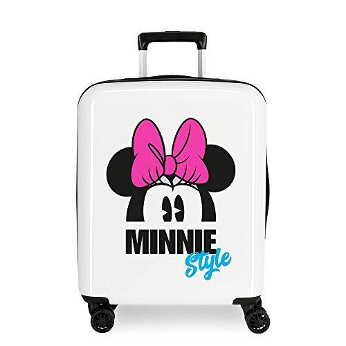 Disney Minnie Style Trolley cabina Multicolore 37x55x20 cms Rigida ABS Chiusura a combinazione numerica 38.4L 2,9Kgs 4 doppie ruote Bagaglio a mano
