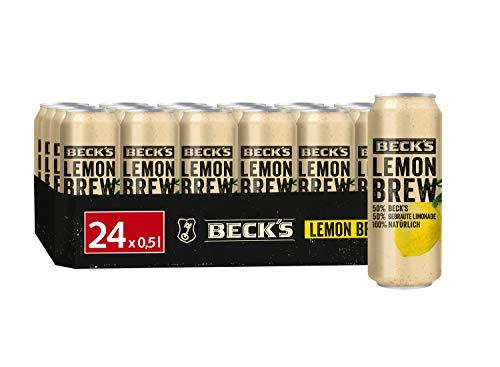 BECK'S Lemon Brew Natur Radler Dosenbier EINWEG (24 x 0.5 l), Natur Radler / Alster