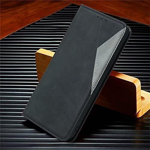 HHF-1 1fortunate Cajas del teléfono para Xiaomi Poco X3 NFC, Funda de Cuero Cubierta de la Billetera para Redmi Note 8T 9 Pro MAX MI 9T 10T Note 10 Ultra (Color : Negro, Material : For Redmi Note 9S)