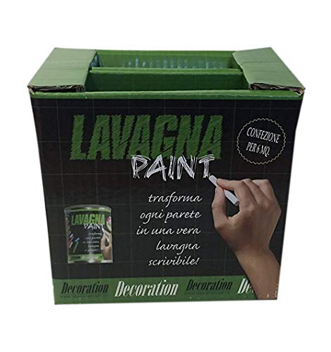 Decoration Kit Completo Lavagna Paint - Pittura Effetto Lavagna - per 6 mq comprensivo di gessetti e cancellino.