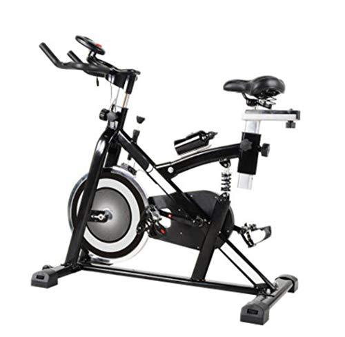 HLEZ Profi Indoor Cycling Bike, Ergometer Heimtrainer Profi Heimtrainer Fahrrad für Zuhause bis 200 kg belastbar Max. Benutzer 200 kg,Weiß