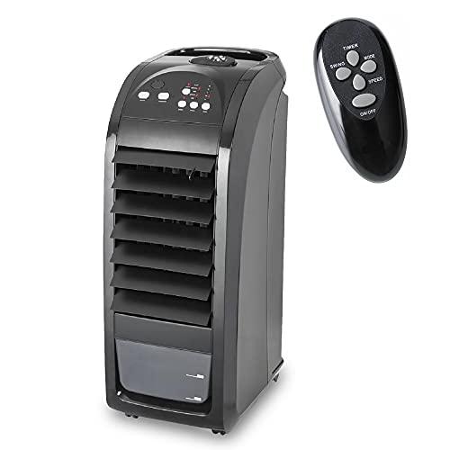 MaxxHome Climatiseur mobile, refroidisseur d'air silencieux (75w) avec design pratique, pour la maison et le bureau, à économie d'énergie avec fonction de refroidissement, moderne Noir