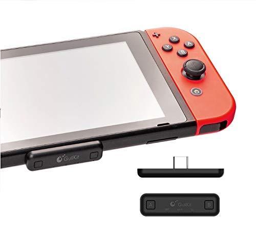 Gulikit Route Air Bluetooth Adaptateur Compatible pour Nintendo Switch & Lite, PC PS4 (système Win8 ou supérieur) avec aptX Low Latency Prend en charge les connexions doubles.