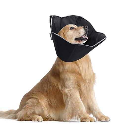 FOCUSPET Dog Cone Collar for Surgery, Pet Recovery Collar for After Surgery, Dogs & Cats Soft Large Size (14.5-18inches) Recovery Collar Protective...