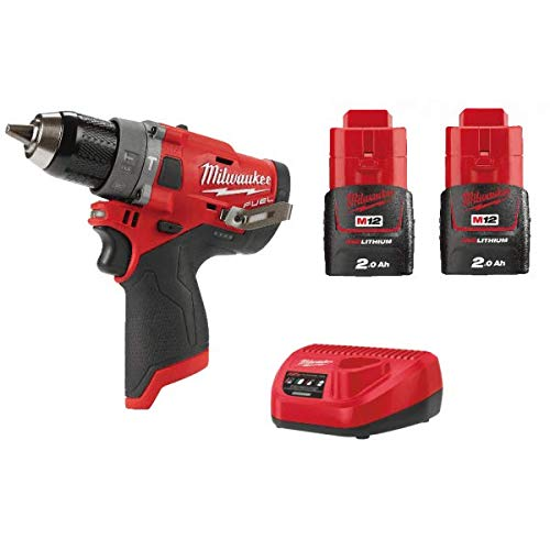 Milwaukee M12FPD-202B 12v Drill with 2 x Batteries, Charger and Bag