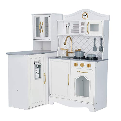 Teamson Kids - Little Chef Marseille Retro Play Kitchen - White