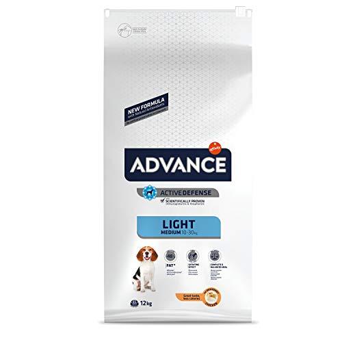 ADVANCE Light Medium Adult - Pienso para Perros Adultos de Razas Medianas - 12 Kg