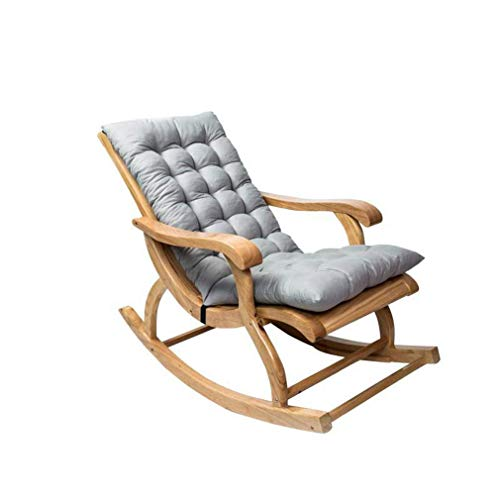 DIESZJ Cojín para Tumbona, portátil, reclinable, para jardín, cojín de Repuesto, cojín para Silla de Vapor, Patio, jardín (Gris)