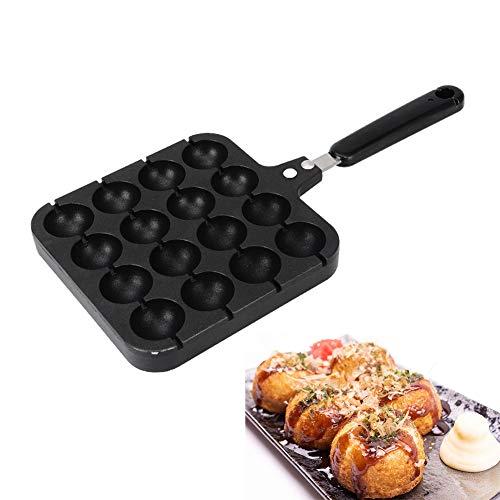 Takoyaki Maker Grill Pan Koken Plaat 16 Gaten voor Octopus Ballen Thuis Koken Bakken Gereedschap Keuken Accessoires met Bakken Naalden Gift
