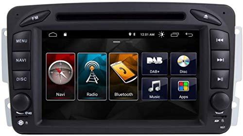 ZBHWYD 7 Pulgadas Android 10 Double DIN Car Stereo GPS NAVEGE Unidad Pantalla Táctil GPS Bluetooth WiFi SWC DVD Player Sat NAVOR para Mercedes Benz G/CLK/C Clase
