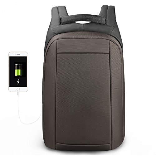 Msbir Anti-Theft Computer Bag Notebook Shoulder Bag Student Bag Travel Multi-Function Backpack 15.6 Inch Brown zaino pc donna impermeabile zaino lavoro zaino antifurto uomo impermeabile zaino da