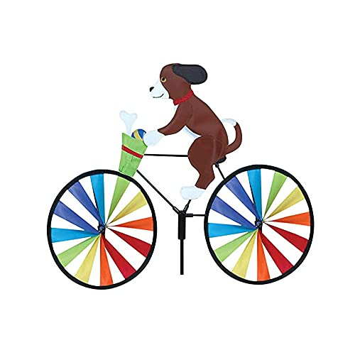 UKETO Creative Animal Bicycle Windmill,Garden Lawn Yard Decor Wind Spinner?Cute 3D Animal on Bike Windmill Wind Spinner,Cat Dog Bike Spinner Outdoor Toy for Kids Adults (A)