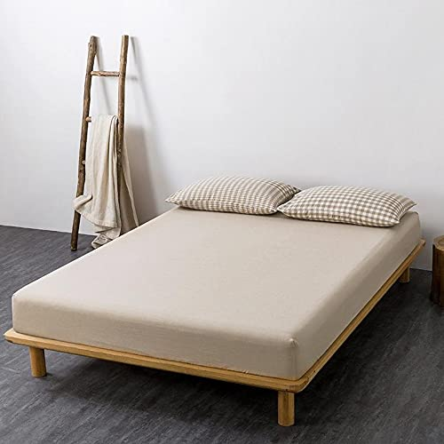 GuLL Sábana bajera ajustable, 100% algodón, para colchón de hasta 30 cm de altura, 180 x 200 cm, color gris