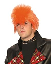 Spiky Orange Punk Wig