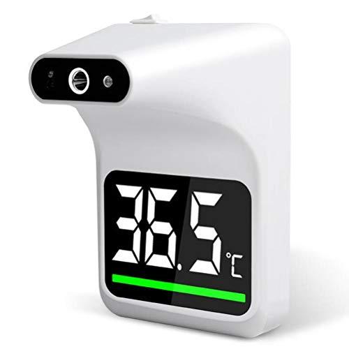 Allsmart Termómetro montado en la pared, termómetro infrarrojo sin contacto con alarma de fiebre, prueba rápida de un segundo, termómetro LED para oficina, escuela, hogar, restaurantes