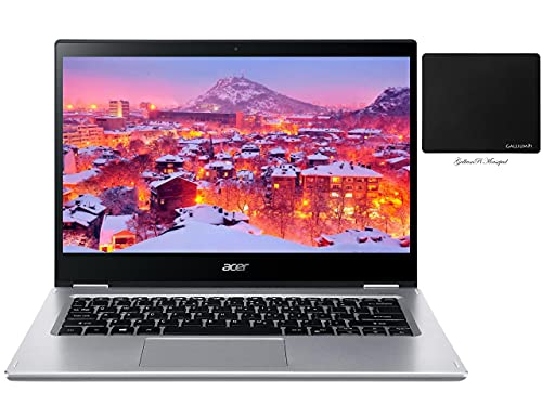 Newest Acer Spin 3 2-in-1 Convertible Laptop, 14' FHD IPS Touchscreen, Intel Core i5-1035G4, 8GB LPDDR4, 512GB NVMe SSD, Backlit KB, Fingerprint Reader, WiFi 6, Win 10 + GalliumPi Accessories
