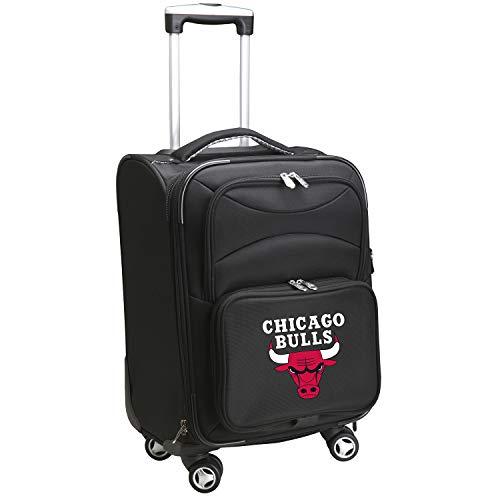 Denco NBA Chicago Bulls Domestic Carry-On Spinner, 20-Inch, Black