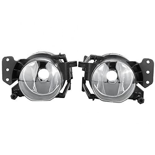 Mrfmh 1 par de Autos Frontales Luces de Niebla lámparas Cubierta Cubierta/Ajuste para BMW 323i 325ci 325i 328i 328xi 63176910792,63176920704, 63176910791 (Color : Black)
