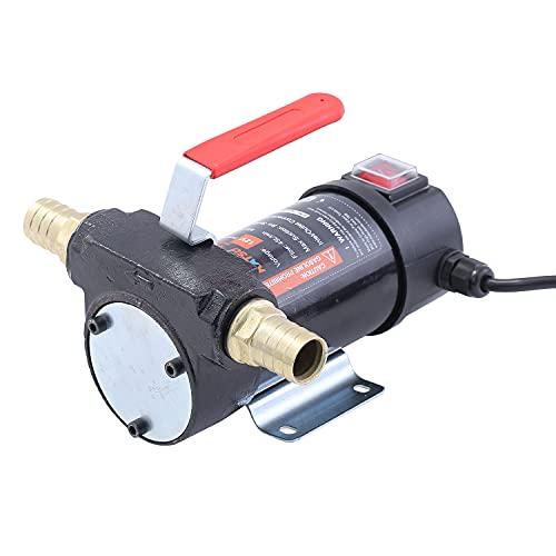 Merry Tools HK Bomba de transferencia autocebable portátil diesel 12 V Corriente Alterna con Accesorios, vendedor del RU