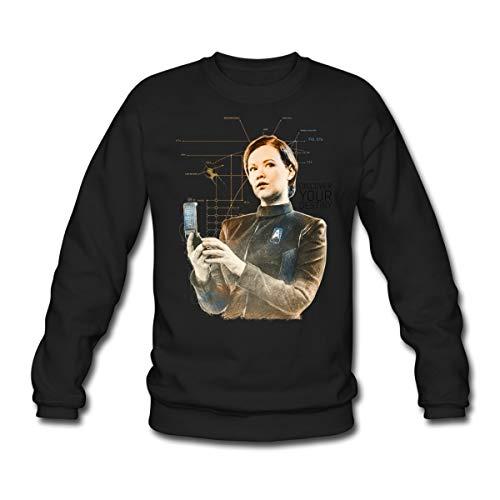 Star Trek Discovery Tilly Enseigne Sweat-Shirt Unisexe, 3XL, Noir