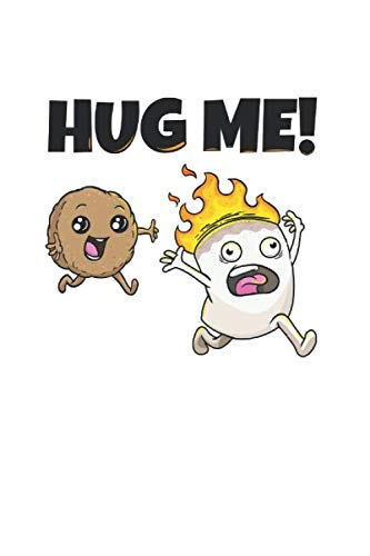 Hug me Marshmallow Keks Notizbuch: Camping Notizheft A5 gepunktet Zeichenbuch Notizblock für Camper dotted Tagebuch Skizzenbuch Geschenk für Kinder Heft mit Punktraster