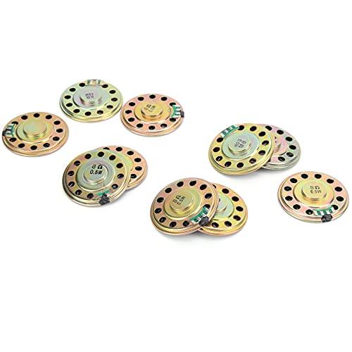 Eosnow Altavoz de Audio, Material de Metal y Goma 10 Piezas Componentes de Altavoz de Audio 0,5 W 8 Ω 50 Mm para Varios experimentos de Aprendizaje