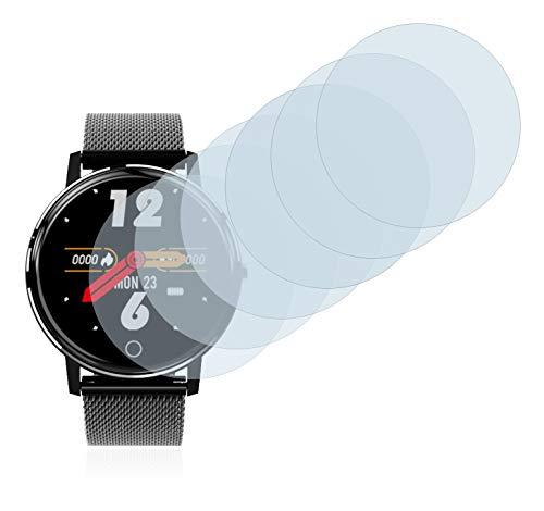"savvies Protector Pantalla Compatible con Holalei Fitness Tracker 1.3"" (6 Unidades) Pelicula Ultra Transparente 3"