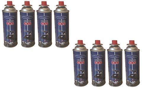 Vanorell 8 x Universal Butangaskartuschen Flammbierer Gaskartuschen für Campingkocher je 227 g Unkrautvernichter Camping Butan Gas Gaskocher Gasherd