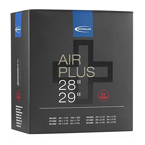 Schwalbe Unisex– Erwachsene Schlauch SV 19AP Air Plus, Schwarz, 28 Zoll