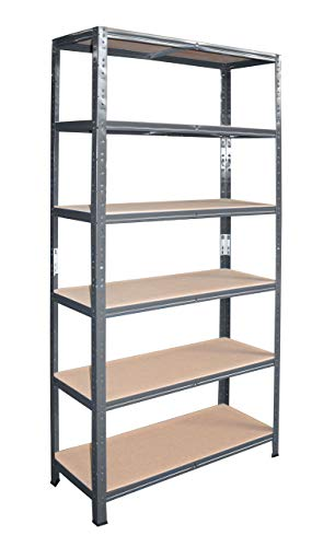 shelfplaza® HOME Estantería antracita 200x100x40cm / estanterías fuertes, estantería de 6 baldas, estanterías metálicas almacenaje, estantería de metal insertable, capacidad de carga de 145kg