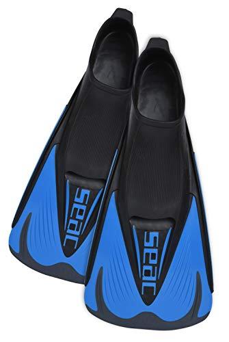 SEAC Speed S Aletas Cortas de natación para Entrenamientos en la Piscina y en el mar, Unisex, Azul/Negro, 40/41