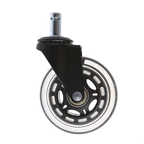 JBZD Ruedas de repuesto para sillas de oficina de 7,62 cm, ruedas...