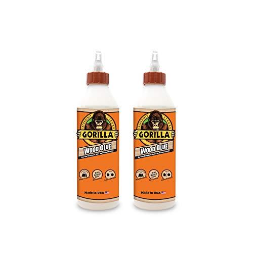 Gorilla Wood Glue, 18 ounce Bottle, (Pack of 2)