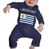 TJKK Mono de manga larga con bandera de Uruguay para recién nacido 1 color 6 Meses