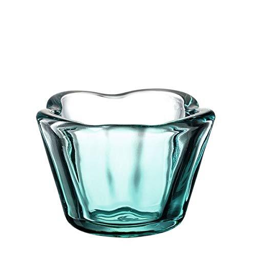 Leonardo - Tischlicht, Teelichthalter - Kerzenleuchter - Arona - Türkis - Glas - Maße: (ØxH) 9 x 6 cm