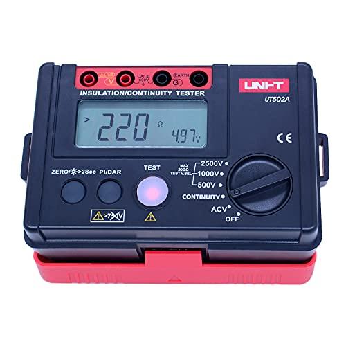 UNI-T 2500V Digital Insulation Resistance Meter Tester Megohmmeter Highly Voltmeter Continuity Tester w/LCD Backlight UT502A