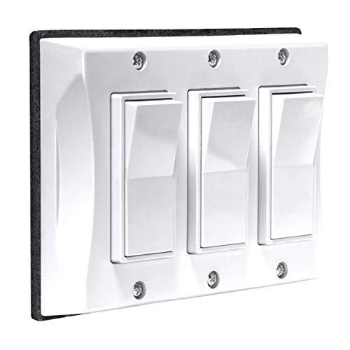 TayMac 5129-1 Weatherproof Decorator Cover, 3-Gang, White