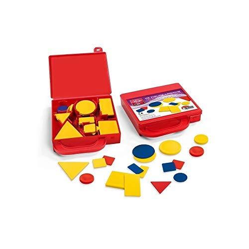 Trade Shop Traesio- Set 48 blokken spel Tutorial koffer leren vormen kleuren geometrie school