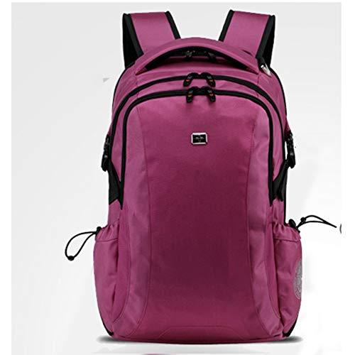 LXMJ Schweizer Taschenmesser Rucksack Männer Rucksack Weibliche Koreanische Business Computer Tasche Freizeit Reisetasche High School Student Bag (Lila)