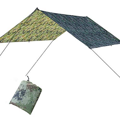 BESPORTBLE Tienda de Campaña Impermeable Toldo Sombrilla Vela Refugio Toldo de Camping Suministros para Senderismo Al Aire Libre Viajes Playa Patio Trasero (Camuflaje 100X145cm)