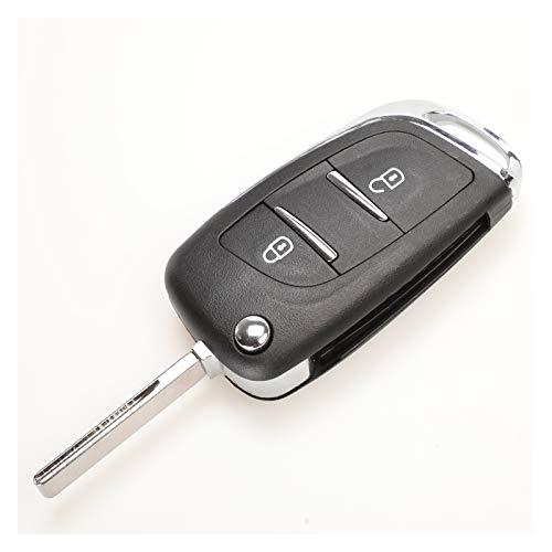 DAXINYANG Cáscara de Llave de automóvil remota FILP modificada 2/3 Button Fit para Peugeot 307 408 308 Fit para Citroen C2 C3 C4 C5 con HU83 / VA2 Blade CE0536