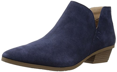 Kenneth Cole REACTION Women's Side Way Low Heel Ankle Bootie Boot, Navy, 8.5 M US