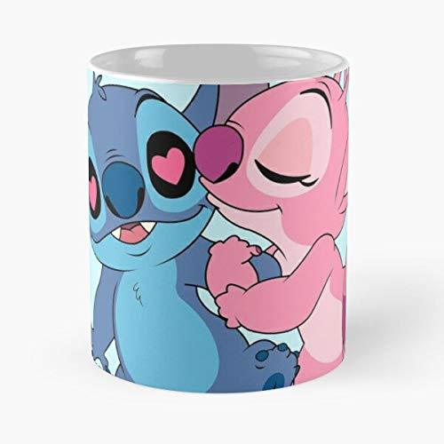 GrimDC 626 Experiment Lilo Valentines 624 Kiss Stitch Day and Heart Taza...