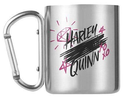 Birds Of Prey Harley Quinn - Tasse mit Karabinerhaken Unisex Tasse silberfarben