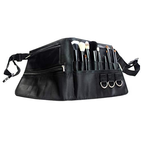 ONEGnug Makeup Brush Bag,Makeup Artist Tool Storage Bag Portable 22 Pockets Cosmetic Brush Holder With Belt Strap