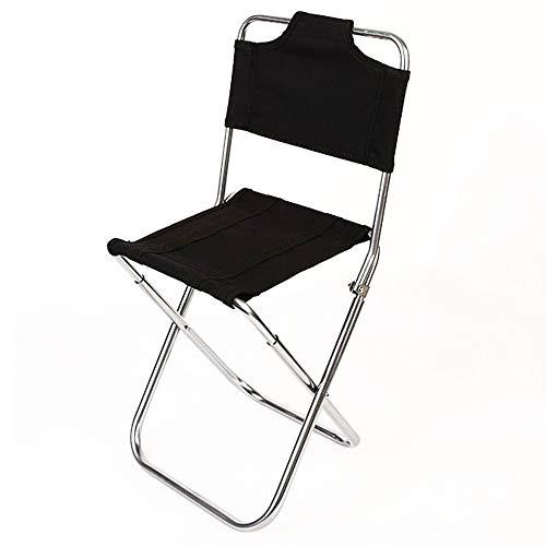 Folding chair Silla Simple al Aire Libre Respaldo Multifuncional Silla Plegable Pesca Camping Silla portátil de aleación de Aluminio