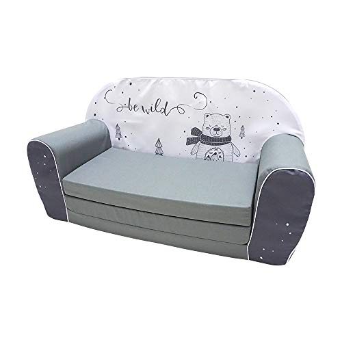 KNORRTOYS.COM Bear 68449 Children's Sofa Grey
