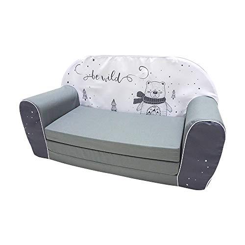 KNORRTOYS.COM 68449 Bear - Sofá Infantil, Color Gris